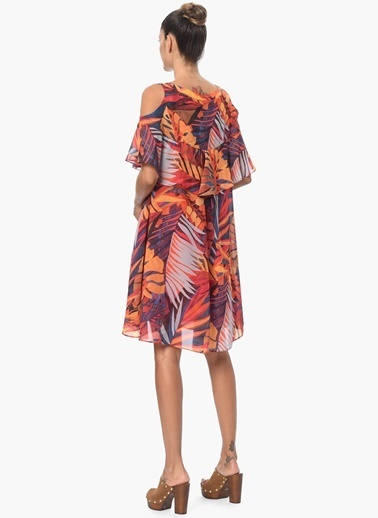 NetWork Elbise Oranj